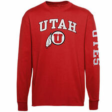 Utah Utes Youth Distressed Arch & Logo Long Sleeve T-Shirt - Red - College