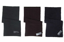 $395 Ralph Lauren Black Label Mens Made In Italy Solid Cashmere Knit Scarf New