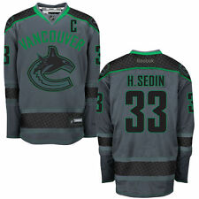 Henrik Sedin Vancouver Canucks Reebok Cross Check Premier Fashion Jersey - Storm