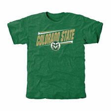 Colorado State Rams Double Bar Tri-Blend T-Shirt - Green - College