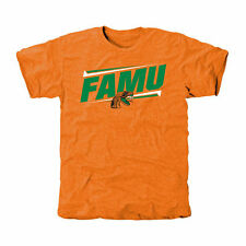 Florida A&M Rattlers Double Bar Tri-Blend T-Shirt - Tennessee Orange - College