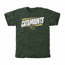 Vermont Catamounts Double Bar Tri-Blend T-Shirt - Green - College