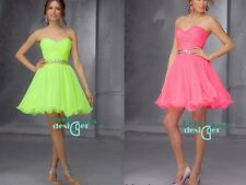 New Short Mini Bridesmaid Dress Formal Party Cocktail Evening Gown Prom Dresses