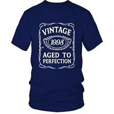 18th Birthday T-Shirt VINTAGE AGED TO PERFECTION 1998 T BDay 18 Gift Idea Presen