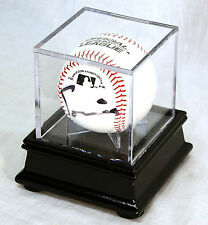 Single Baseball Ball Cube Display Case Stand with 98% UV Ultra Pro Cube Included