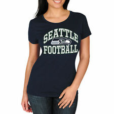 Seattle Seahawks Majestic Women's Franchise Fit T-Shirt - College Navy - NFL
