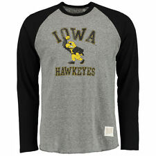 Iowa Hawkeyes Original Retro Brand Long Sleeve Raglan T-Shirt - Gray - College