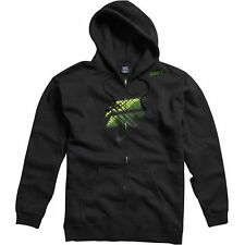 SHIFT RACING MENS BARBOLT FILL ZIP FRONT FLEECE HOODIE motocross new BLACK GREEN
