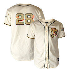 Buster Posey MAJESTIC 2012 SF Giants WS Champ Gold Ring Ceremony Jersey YOUTH