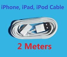 2M Long USB Data Sync Cable Charge Cord For iPhone 3 3GS 4 4S iPad iPod 30Pin AU