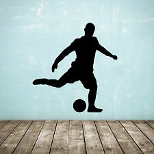 Free Kick Football Wall Sticker - Soccer Player Silhouette for Boys & Sport Fans