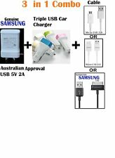 Genuine Samsung 5V Wall Charger+Data Cable Galaxy S4 S5 S6 Tab 2+USB Car Charger