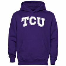 TCU Horned Frogs Youth Midsize Pullover Hoodie - Purple - College