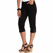 NYDJ Not Your Daughters Jeans  black crop capri pants Delilah sz 8 or 16