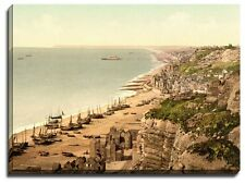 Canvas Print Wall art Picture hastings, view from the east cliff