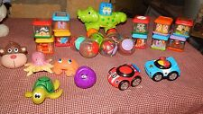 Fisher Price Peek A Boo Blocks, Roll A Round Balls,Crocodile + More Baby Toy Lot