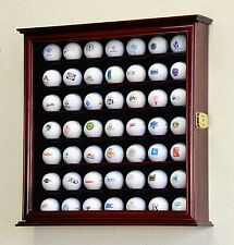 49 Golf Ball Cabinet Display Case Holder Wall Mount UV