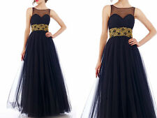Embellished Tulle Formal Party Bridesmaid Prom Dresses Evening Dress Ball Gown