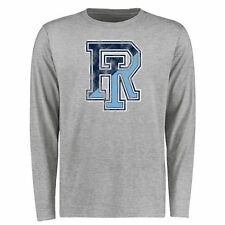 Rhode Island Rams Big & Tall Classic Primary Long Sleeve T-Shirt - Ash - College