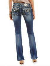 Miss Me Women's Colorful Stitch Slim Bootcut Jeans JP7272SB