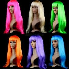 Fashion Women Girl Long Straight Hair Full Wig Wigs Cosplay Party Synthetic Wigs
