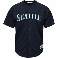 Seattle Mariners Majestic Youth Official Cool Base Jersey - Navy - MLB