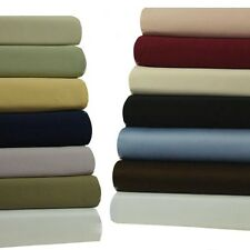 Solid Attached Waterbed Sheet Set, Queen 450 TC 100% Cotton With POLE ATTACHMENT