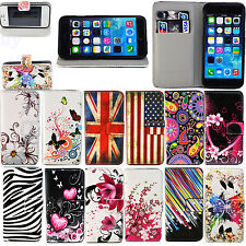 Leather Phone Wallet ID Card Slot Stand Flip Case Cover For Various Mobile Phone