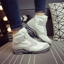 Classic Women Lady Suede High Top Sneakers Running Shoes Lace Up Casual Fashion