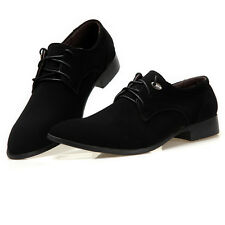 New Mens Formal/Dress Faux Suede Groom Wedding Shoes Lace-up Loafers Oxfords