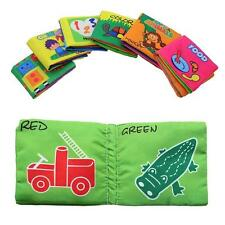 Baby Infant Kid Bedtime Early Intelligence Education Cloth Fabric Cognize Book