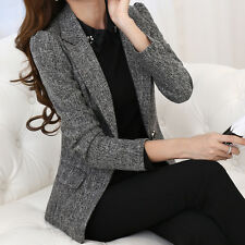 Plus Size Women S-5XL Silm Suits Blazers One Button OL Career Casual Coat Jacket