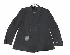 $1,995 Polo Ralph Lauren Mens Garrison Double Breasted Charcoal Italy Wool Suit