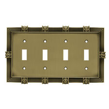 Franklin Brass Pineapple Quad Switch Wall Plate