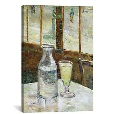 'Still Life with Absinthe' by Vincent Van Gogh Painting Print on Wrapped Canvas