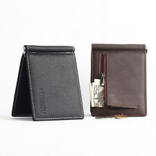 Fashion Mens Leather Credit Card Holder Wallet Bifold ID Cash Coin Purse Clutch