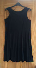 Evans New Plus Size Black Navy Striped Stretch Summer Beach Dress Tunic 14 - 20