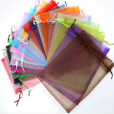 50 Organza Gift Bags Jewellery Christmas Packing Pouches Wedding Party Favour g