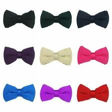 Men Boy Tied Knit Bow Clip On Tuxedo Necktie Pre-Tied Tuxedo Jacquard Bow Tie