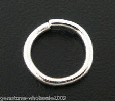 Wholesale Mixed Lots Silver Plated Open Jump Rings 6x0.9mm Findings