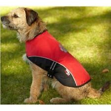 Petface Outdoor Paws dog coat medium or large red, teflon coated waterproof