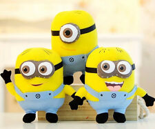 """Cute Despicable Me 2 Kids Plush Soft Toy 6"""" MINIONS Movie 3D Eye Doll Yellow New"""