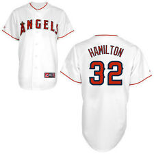 Josh Hamilton Los Angeles Angels of Anaheim #32 Majestic Replica Jersey - White
