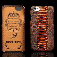 Hot Luxury Genuine Leather Hard Case Back Cover Skin For Apple iPhone 6 6S Plus