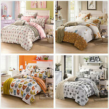 Cotton Floral Duvet Doona Quilt Cover Set SINGLE QUEEN KING Size Bed Covers New