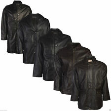 Mens Leather Jacket Black Brown Real 100% Genuine Everyday Style Fashion Casual