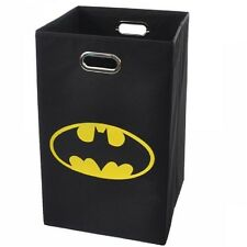 Modern Littles Batman Logo Folding Laundry Basket