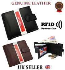 NEW MENS SOFT GENUINE REAL LEATHER BIFOLD WALLET CREDIT CARD HOLDER PURSE DESIGN