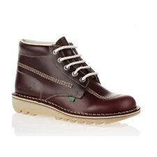 Kickers Kick Hi Mens Dark Red, Leather lace up boot