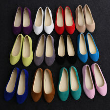 Women Boat Shoes Casual Flat Ballet Slip On Flats Loafers Single Shoes Brand New